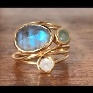 Jewelry - GOLD WIRE WRAPPED GEMSTONE RING 6